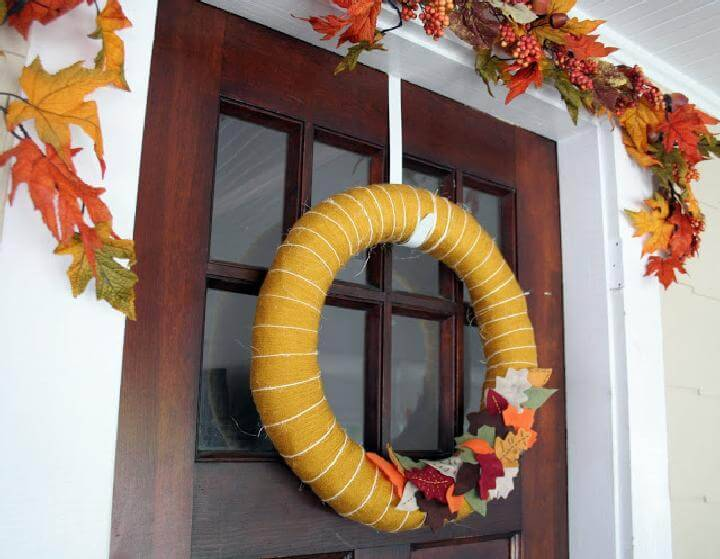 DIY Beautiful Handmade Fall Wreath