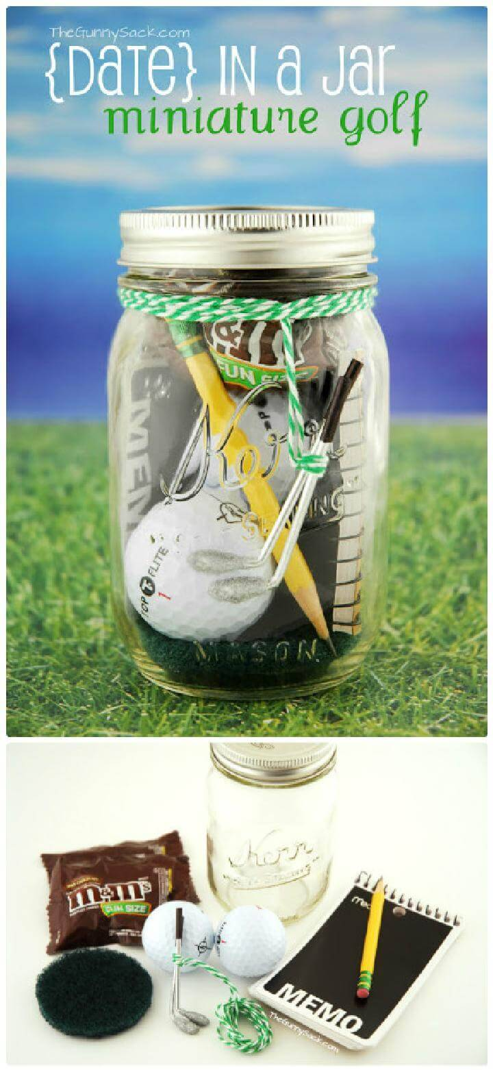 DIY Beautiful Mini golf Jar Gift