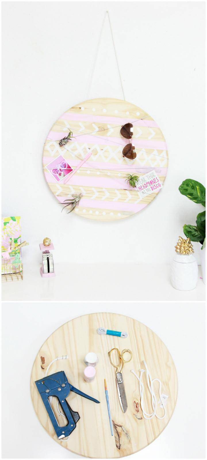 DIY Beautiful Mud Cloth Inspired Organizer