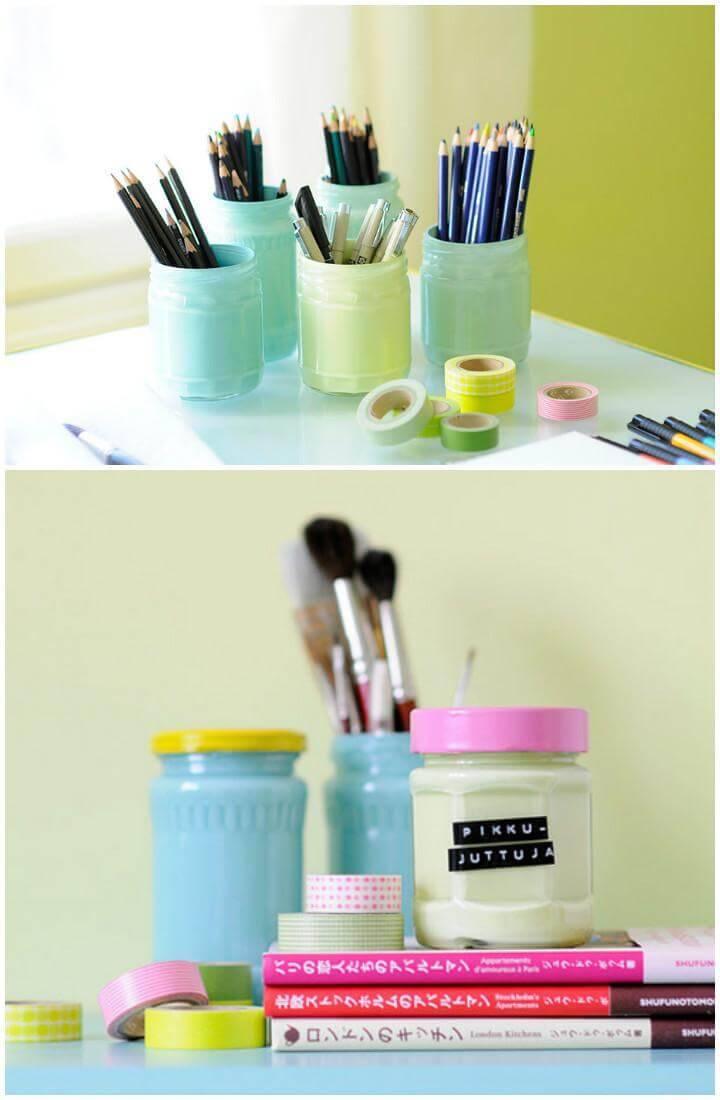 DIY Beautiful Painting Pastel Glass Jars