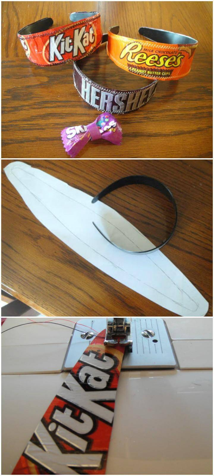 DIY Brilliant Candy Wrapper Headbands