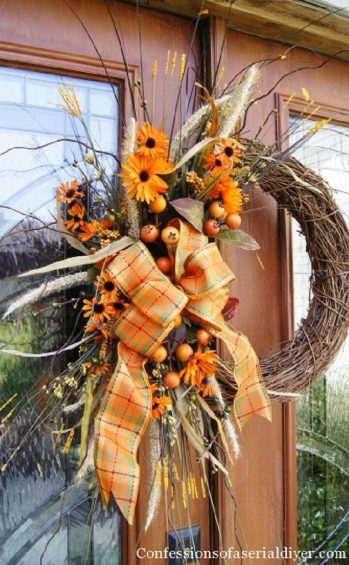 DIY Bunches and Berries Fall Wreath