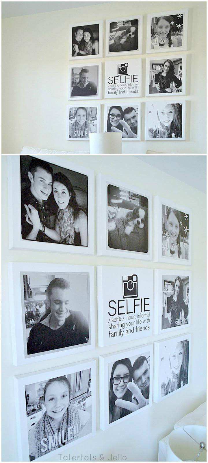 DIY Canvas Portrait Wall