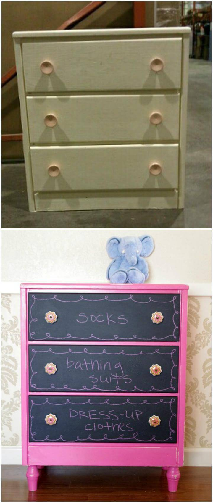 DIY Chalkpainted Dresser - Smart Furniture Transformation