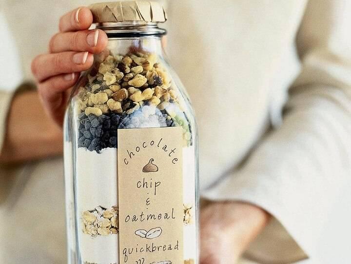 DIY Chocolate Chip Oatmeal Quick Bread Mason Jar Gift
