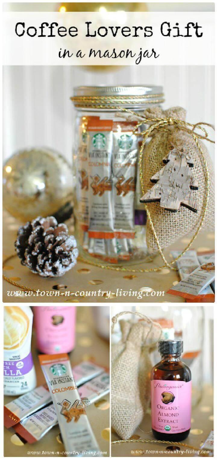 DIY Coffee Lovers Gift in a Mason Jar