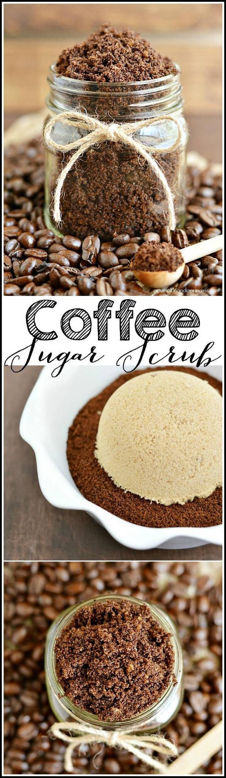 DIY Coffee Mason Jar Sugar Scrub Gift