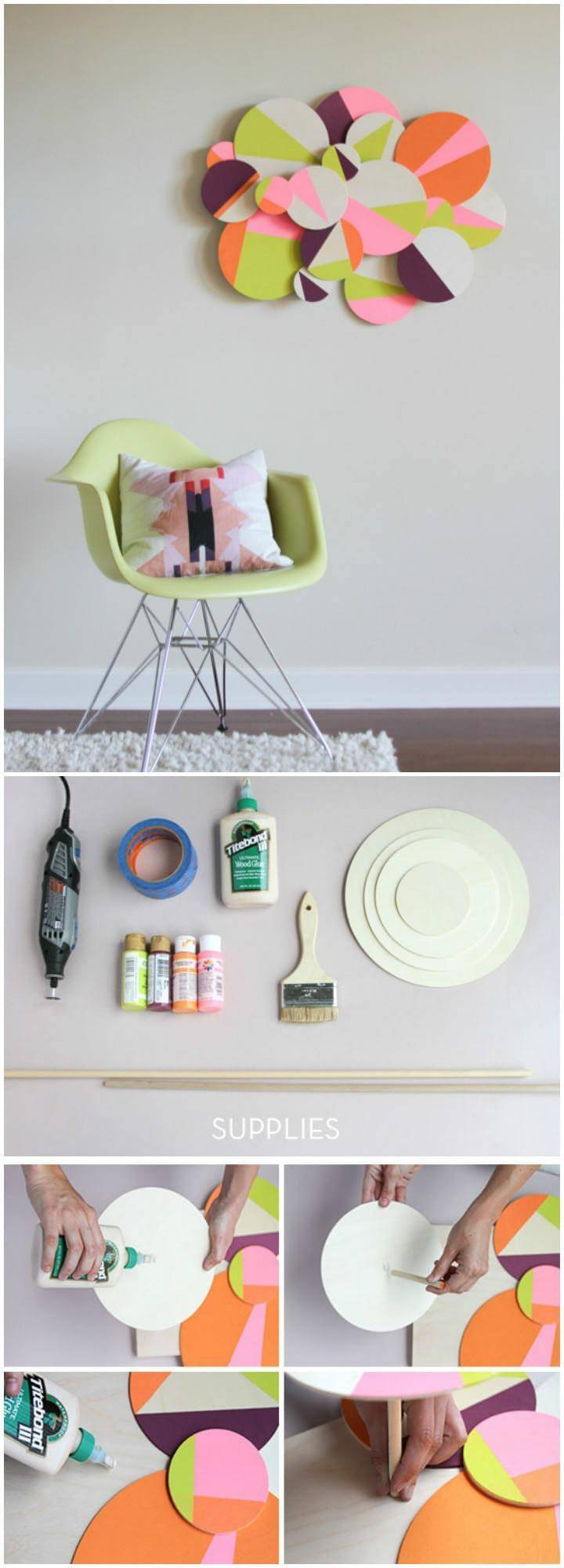DIY Colorful 3D Geometric Wall Art