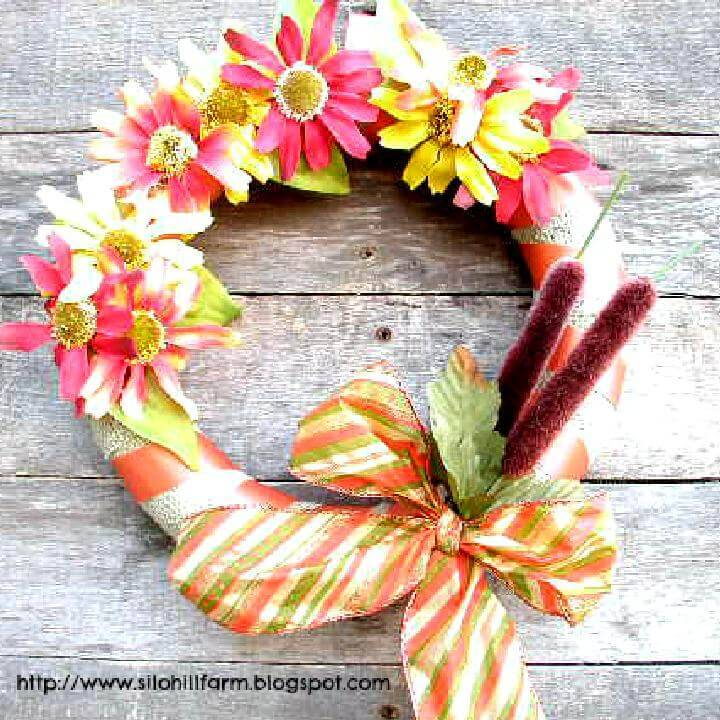 DIY Colorful Handmade Fall Wreath