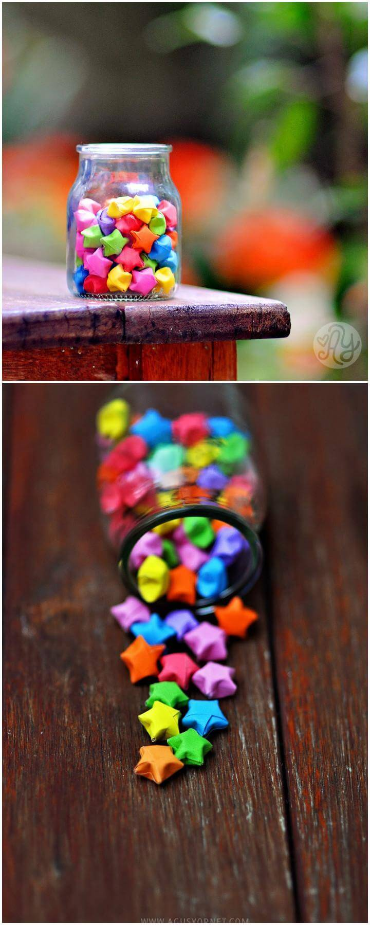 DIY Colorful Origami Stars