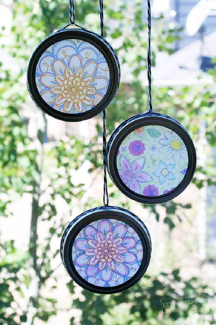 DIY Coloring Pages Sun-Catchers