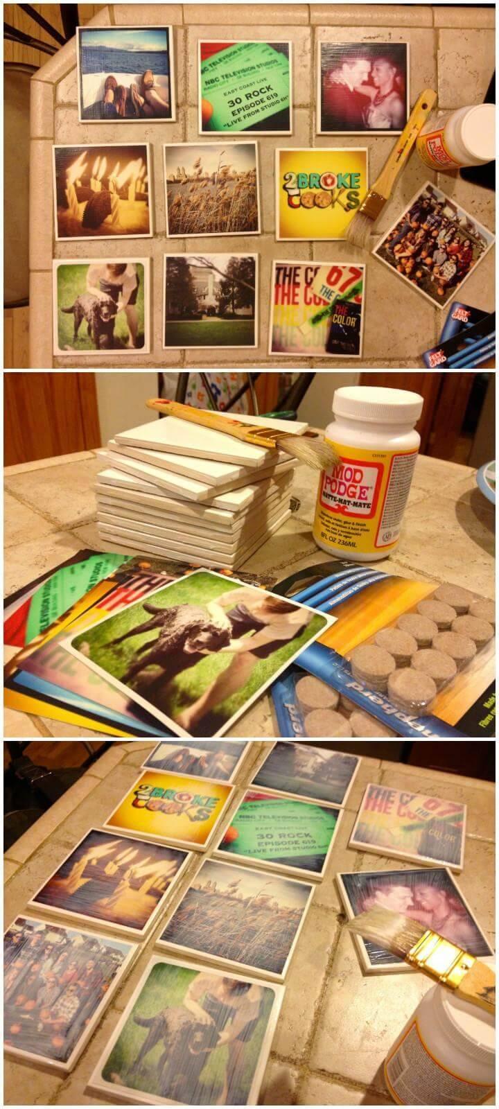 DIY Cool Instagram Coasters
