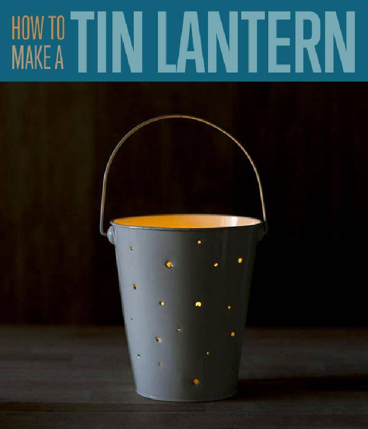 DIY Cool Tin Lantern