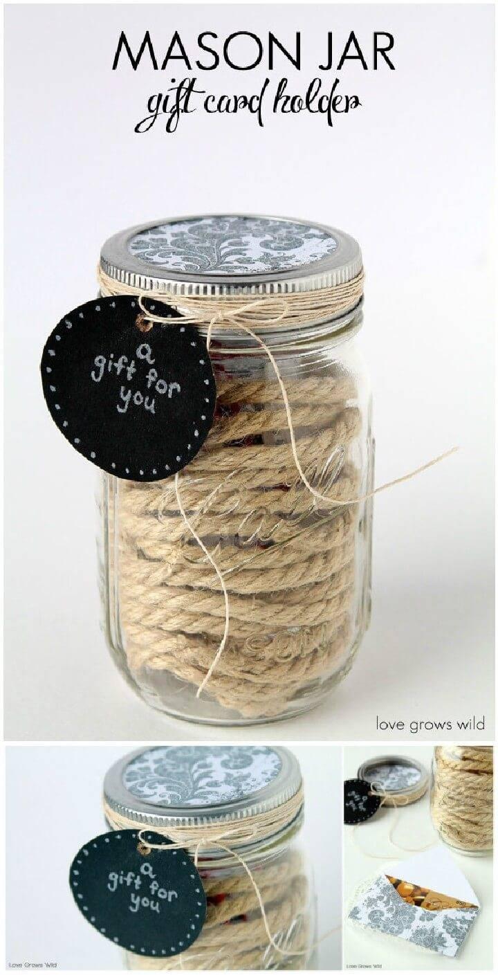 DIY Cord Holder Mason Jar Gift