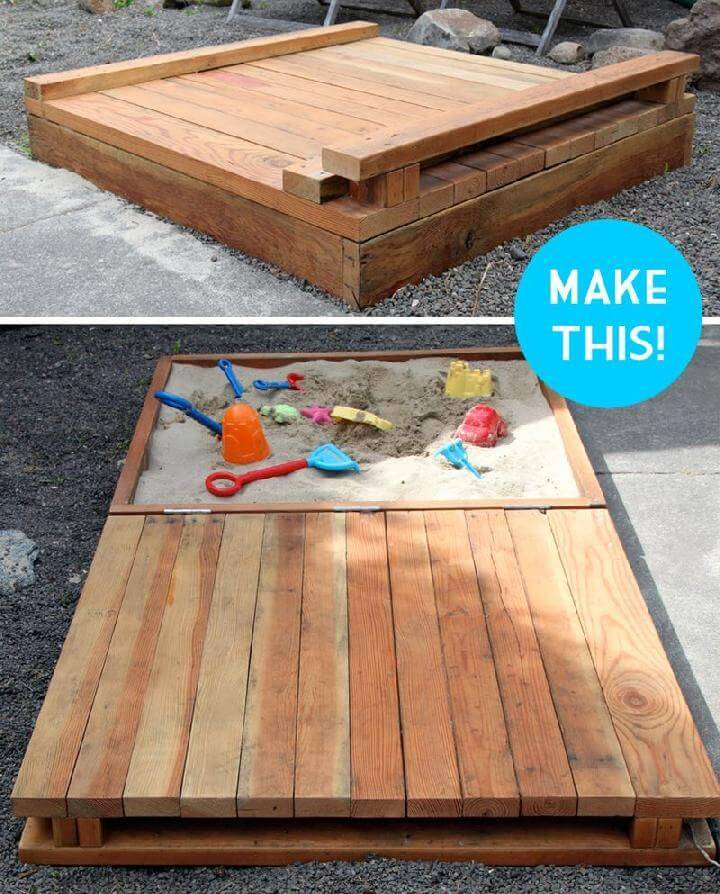 DIY Deluxe Wooden Sandbox Instructions