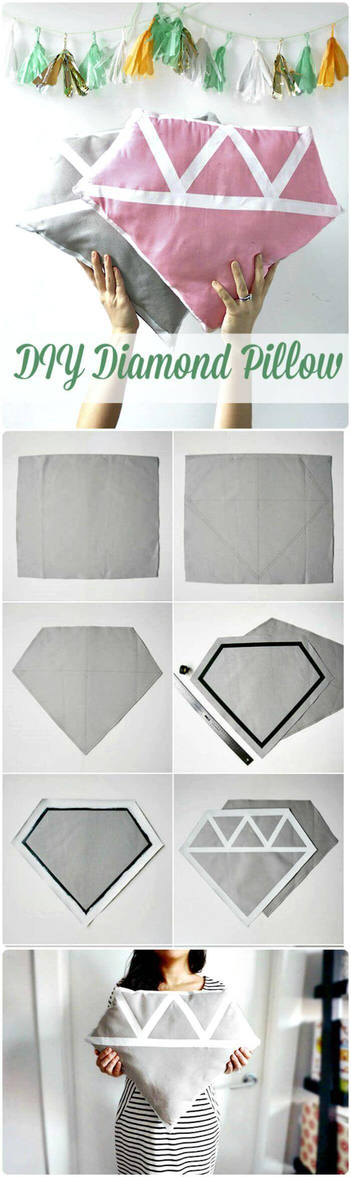 DIY Diamond Pillow