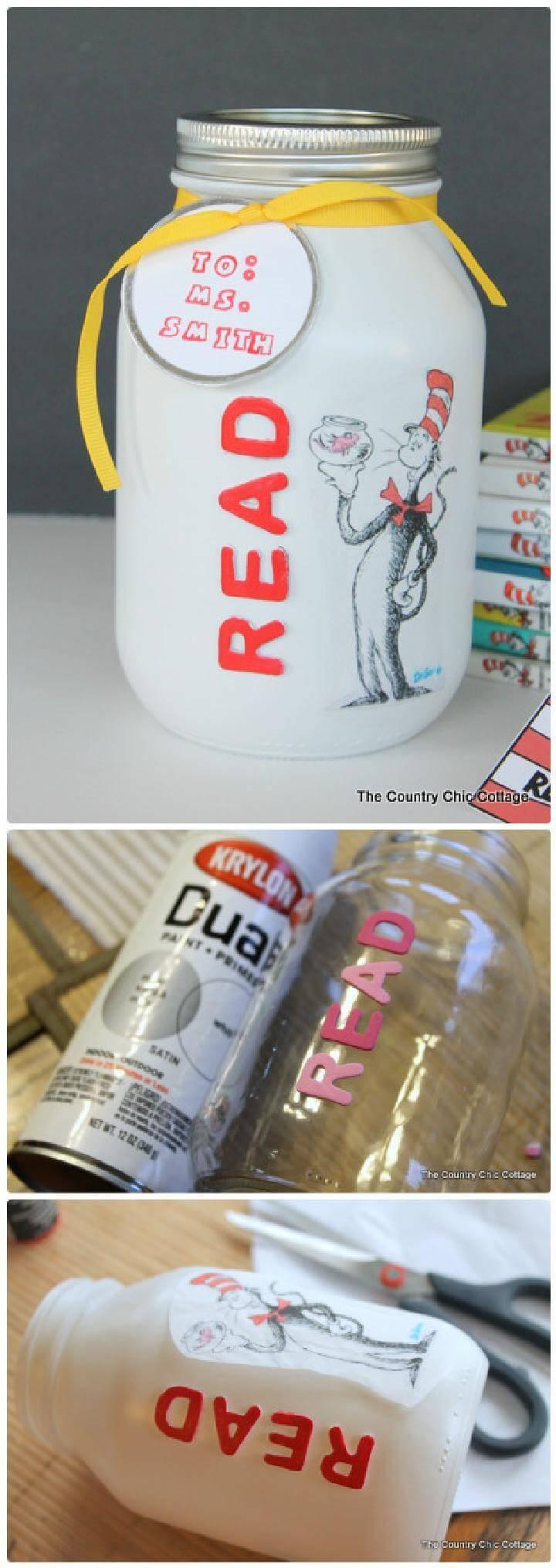 DIY Dr. Seuss Gift in a Mason Jar for Teachers