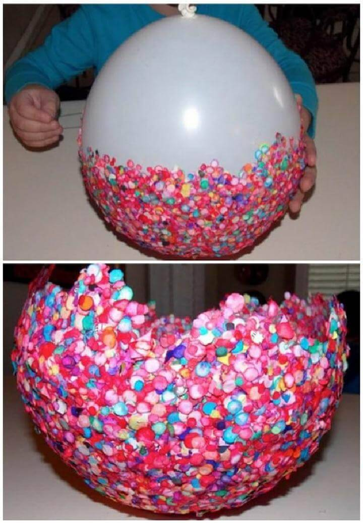DIY Easy Balloon Bowl