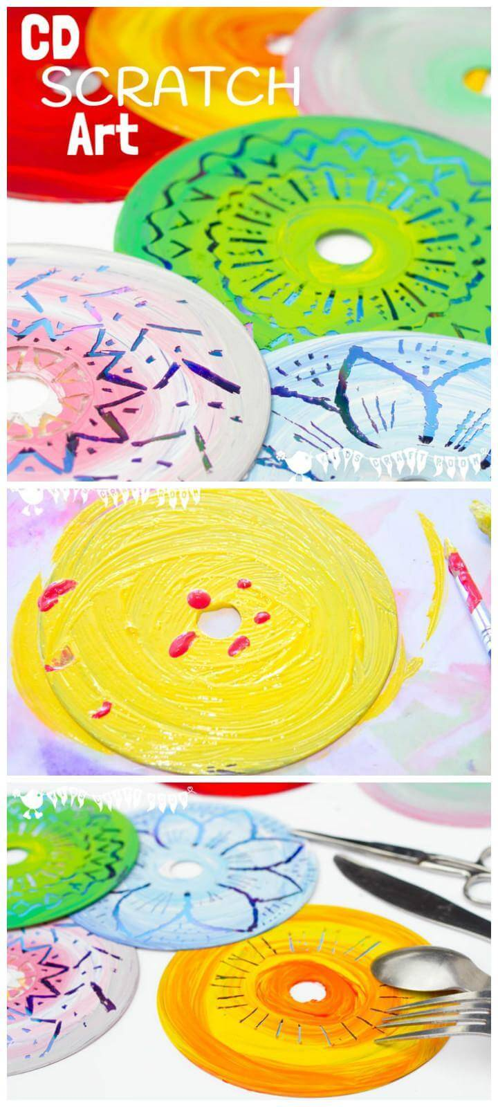 DIY Easy CD Scratch Art