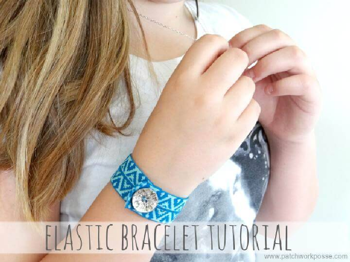 DIY Easy Elastic Bracelet Tutorial