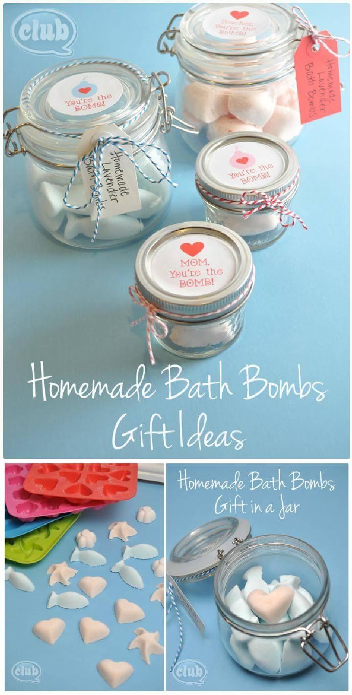 DIY Easy Mason Jar Bath Bomb Gifts