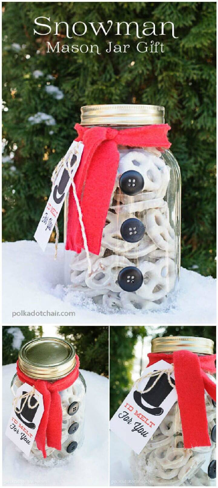 DIY Easy Mason Jar Snowman Gift