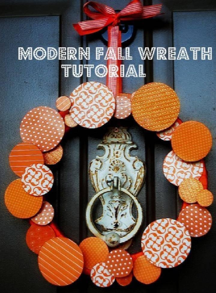 DIY Easy Modern Fall Wreath
