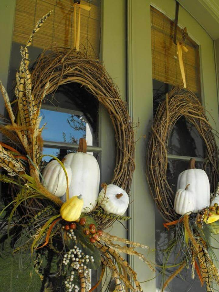 DIY Easy Stickin Pickin Fall Wreath