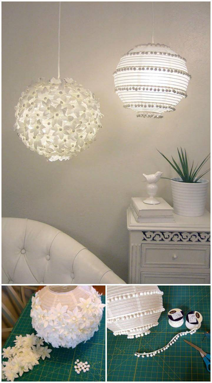 DIY Easy but Beautiful Paper Flower adn Pom-Pom Lanterns