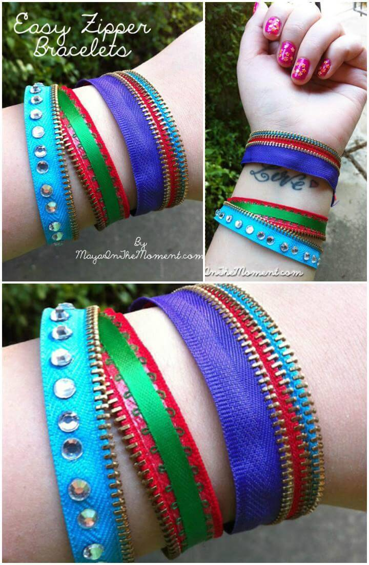DIY Easy but Creative Zipper Bracelet