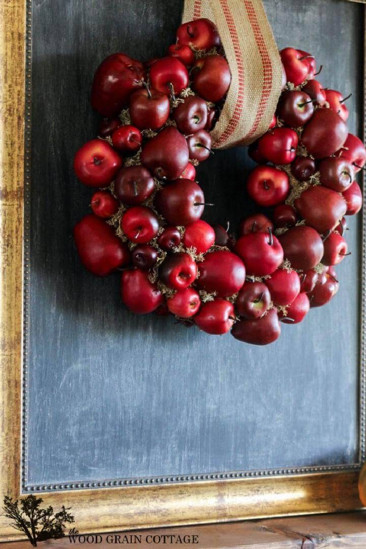 DIY Easy but Great Apple Fall Wreath