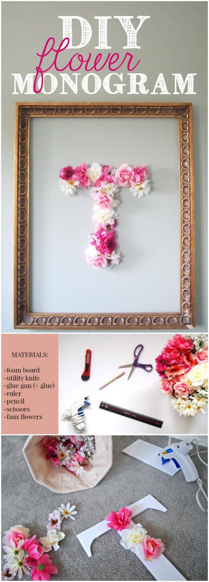 DIY Easy yet Beautiful Flower Monogram