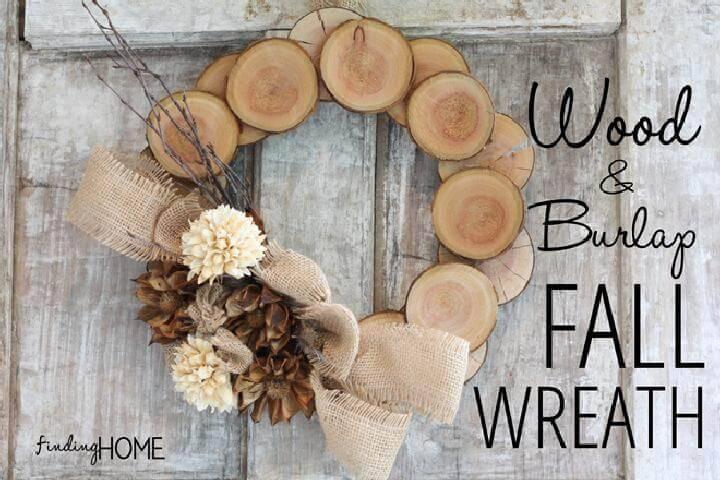 DIY Easy yet Beautiful Wood and Burlap Fall Wreath