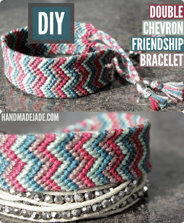 DIY Extra Beautiful Double Chevron Friendship Bracelet
