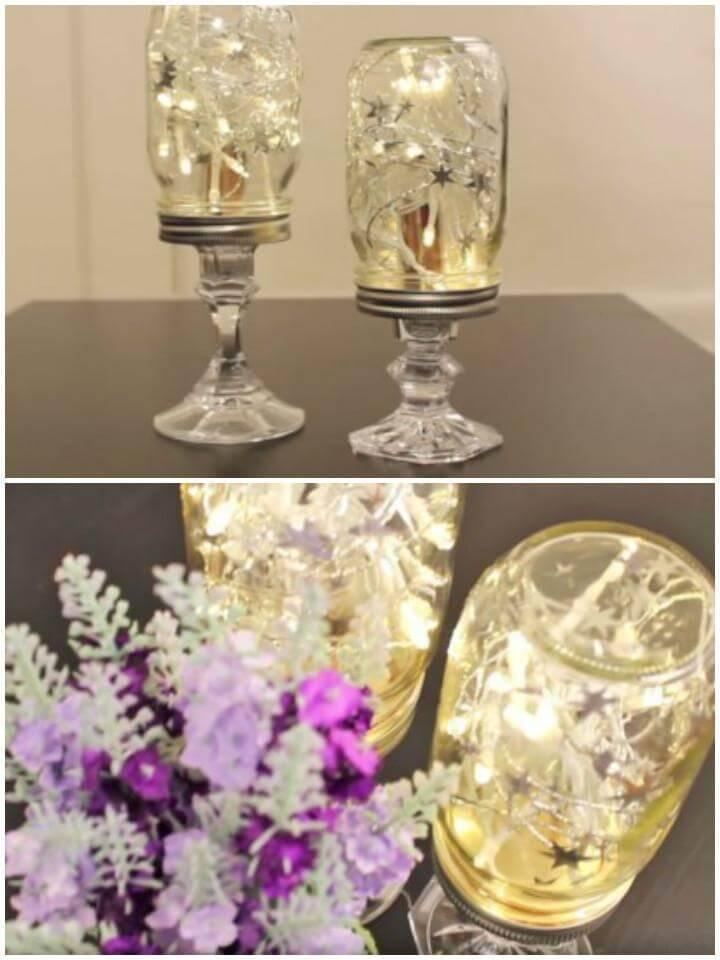 DIY Extra Beautiful Mason Jar Lights