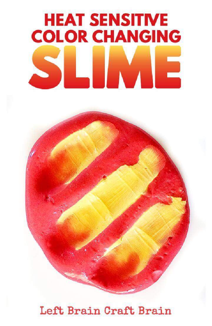 DIY Extraordinary Heat Senstive Color Changing Slime