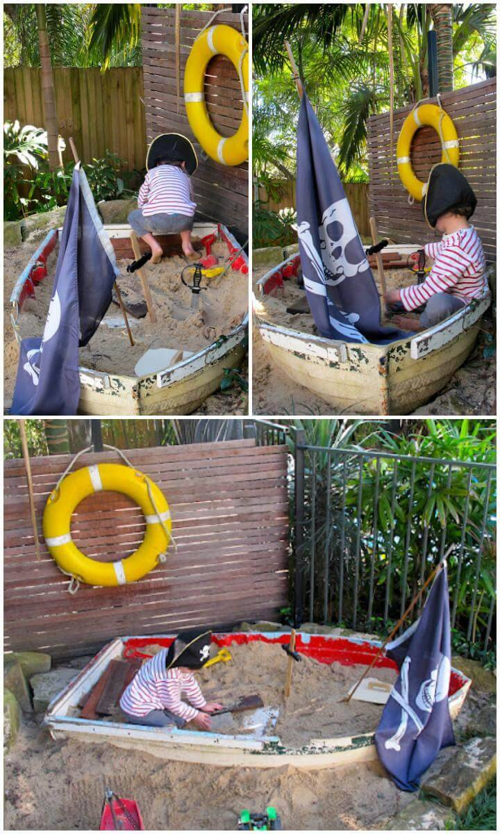DIY Fabulous Pirates Ship Sandbox