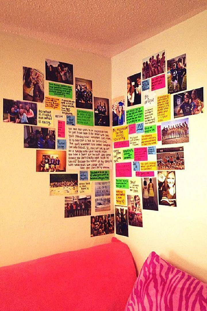 DIY Fantastic Heart Photo Wall