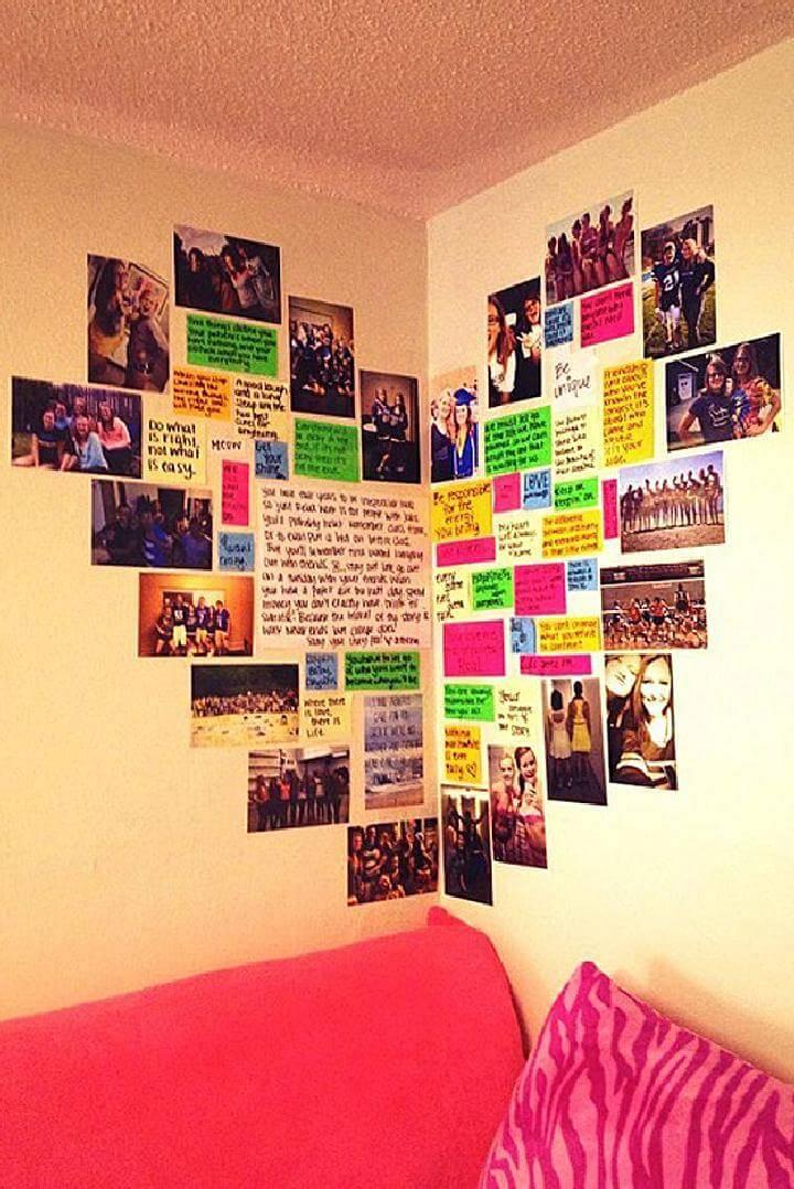 DIY Fantastic Heart Photo Wall