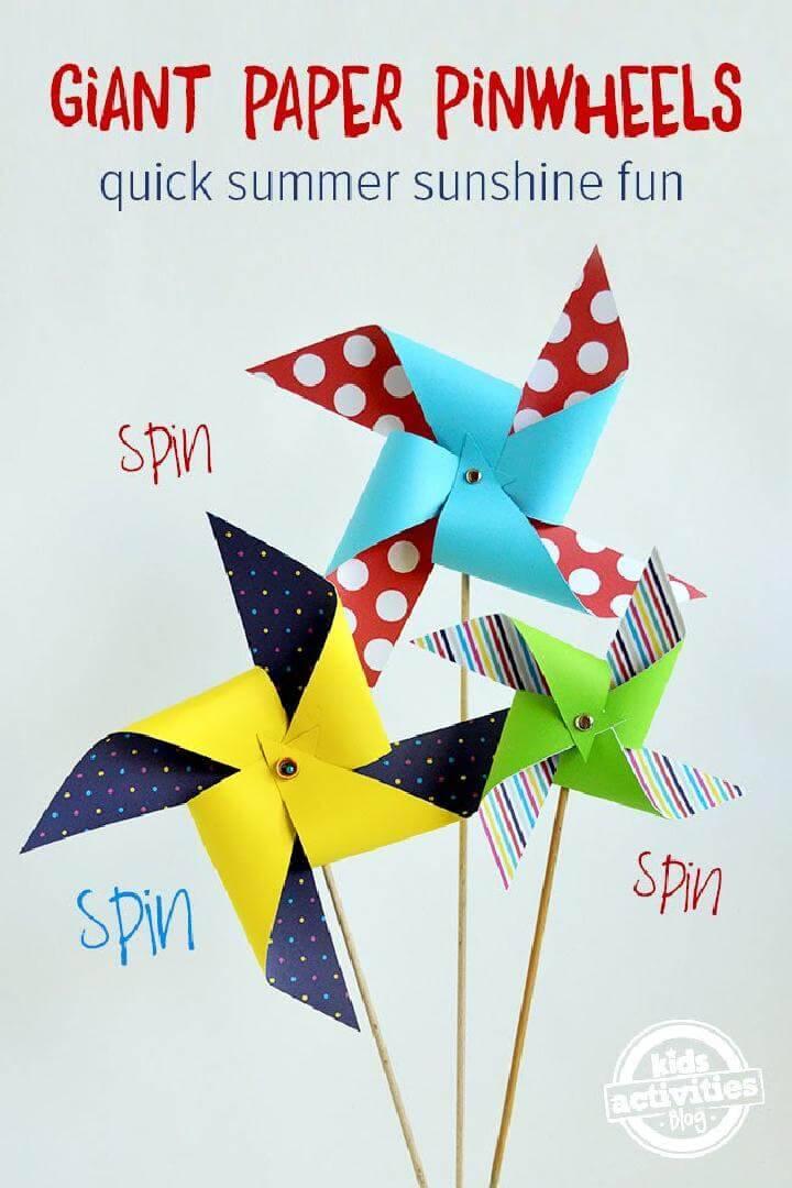 DIY Giant Paper Pinwheels