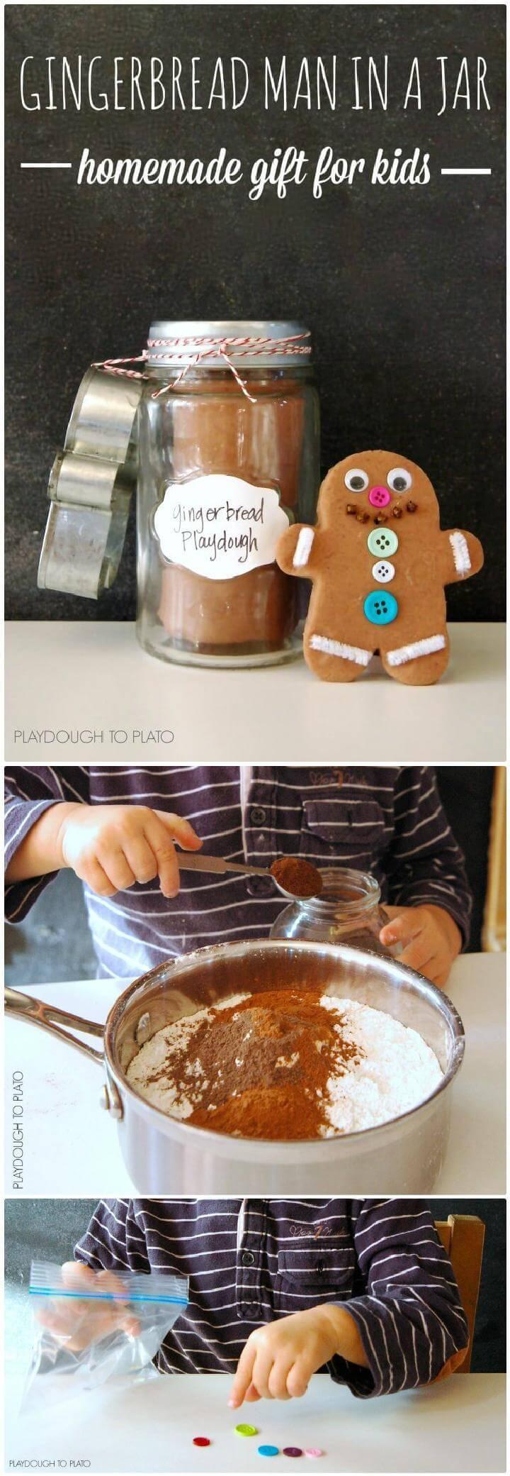DIY Gingerbread Man Mason Jar Gift