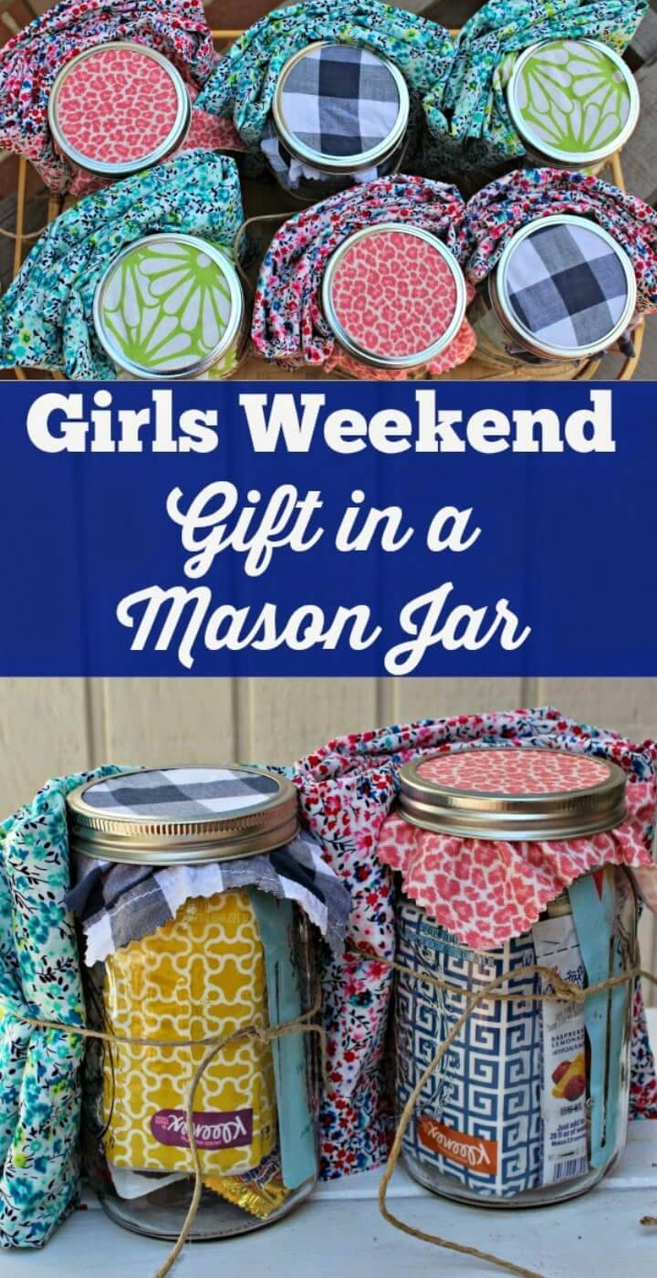 DIY Girls Weekend Gift in Mason Jars