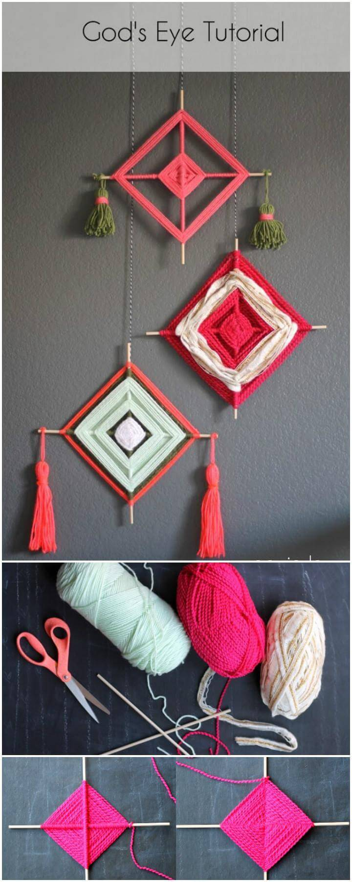 DIY God's Eye Camp Craft