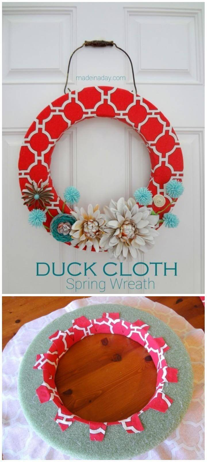 DIY Gorgeous Duck Cloth Wreath