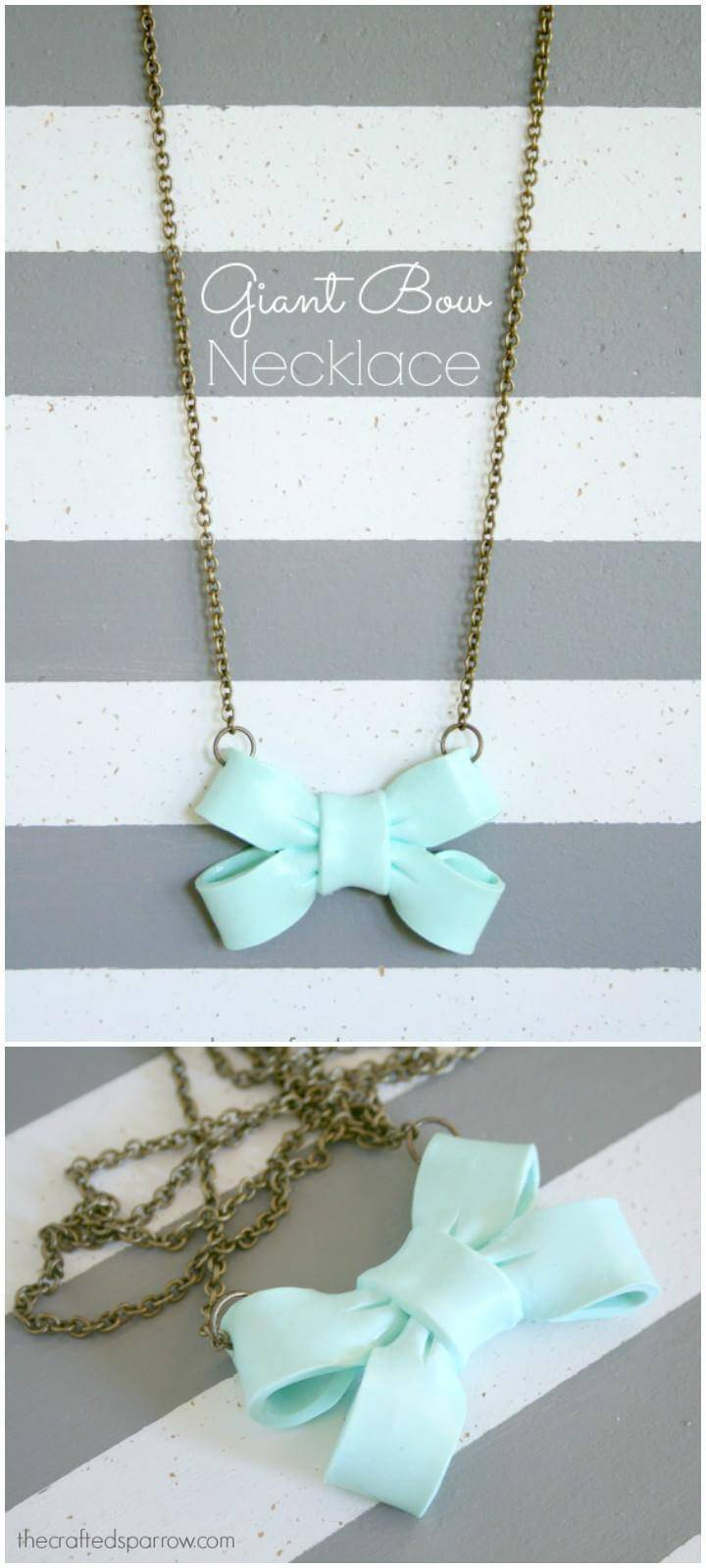 DIY Gorgeous Giant Bow Necklace