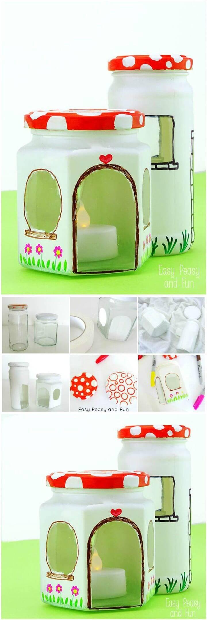 DIY Handcrafted Mason Jar Fairy House Gift