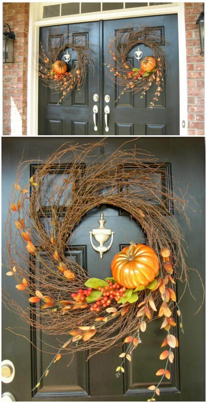 DIY Handmade Fall Wispy Wreath