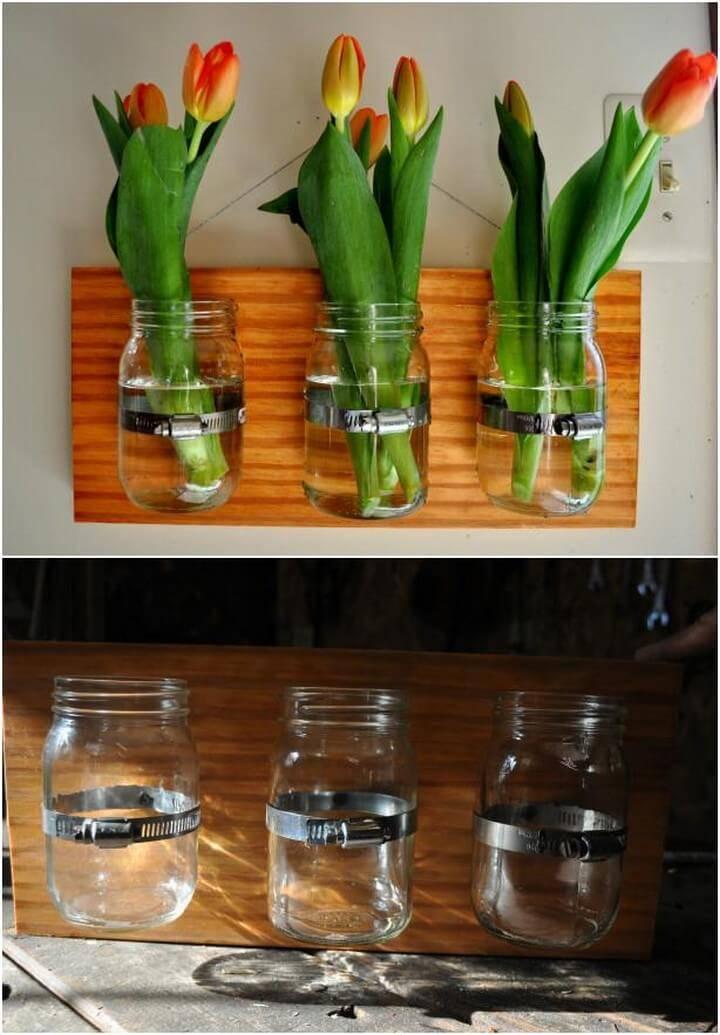DIY Handmade Mason Jar Hanging Garden