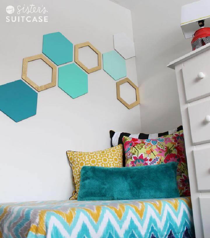 DIY Hexagone Geometrical Wall Art