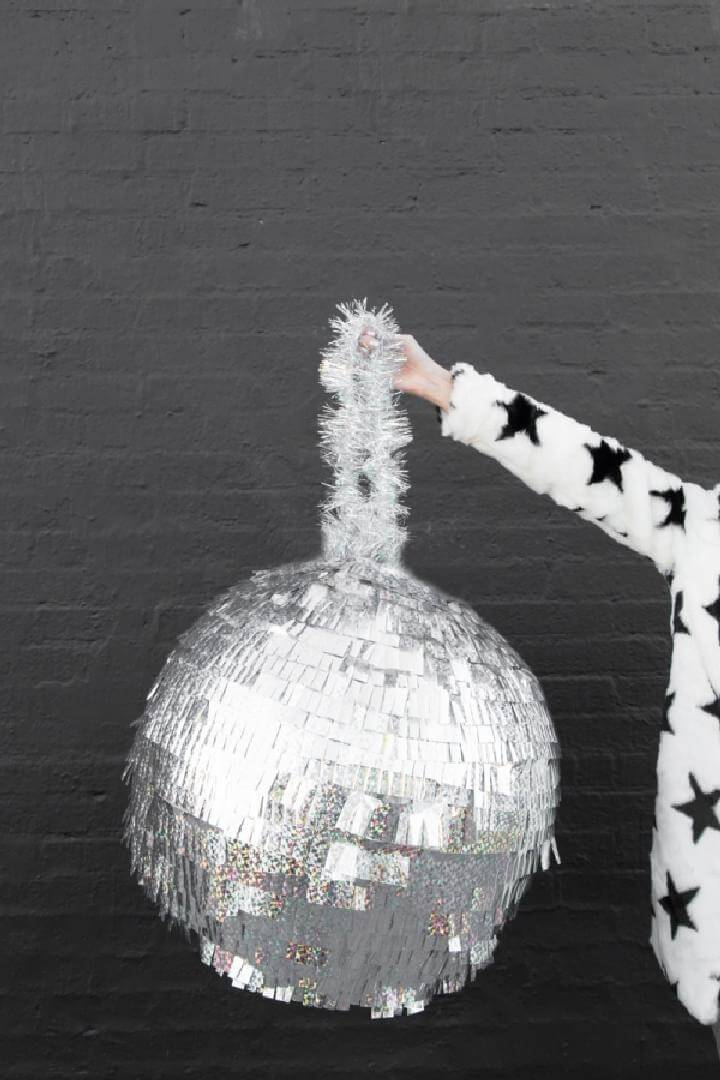 DIY Homemade Disco Ball Pinata